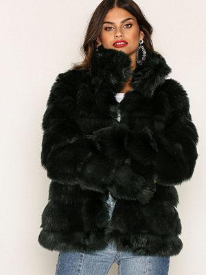 Fuskpälsjackor - NLY Trend Puffy Fur Coat Grön