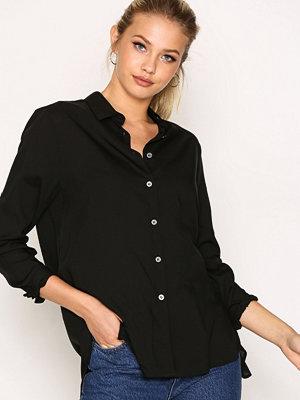 Filippa K High-low Tencel Shirt Black