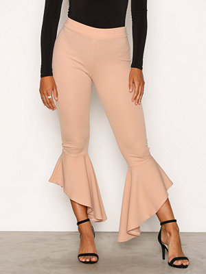 Leggings & tights - NLY One Frill Pant Beige