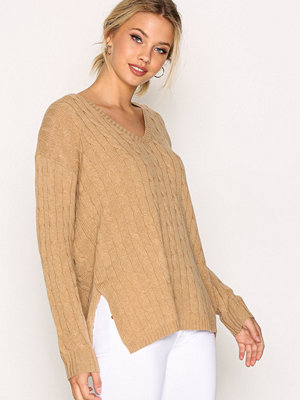 Polo Ralph Lauren Long Sleeve V-Neck Sweater Camel