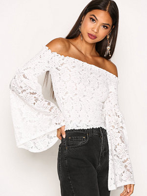 River Island Ls Flare Sleeve Top White