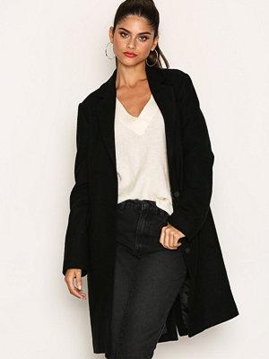 NLY Trend Long Wool Coat Svart