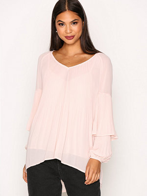 River Island Valencia Pleated Blouse Light Pink