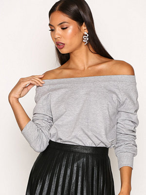 New Look Bardot Sweat Top Grey