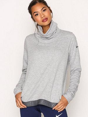 Sportkläder - Nike Nk Dry Top Cowl Neck LS Grå