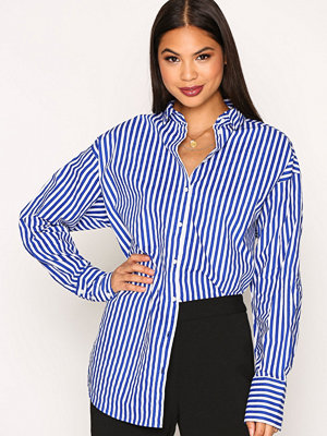 Vero Moda Vmcannes L/S Long Shirt O17 Mörk Blå