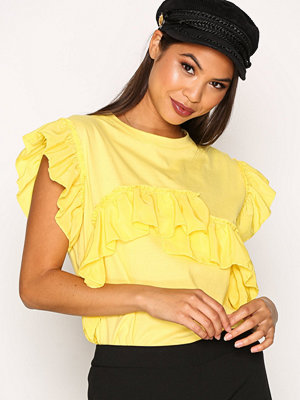 River Island SS Mix Frill Tee Yellow