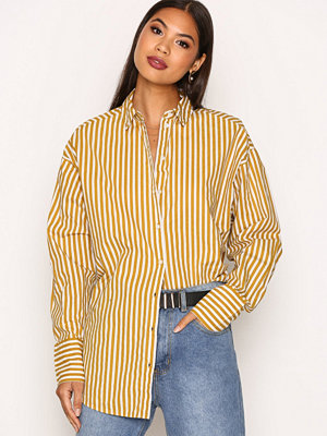 Vero Moda Vmcannes L/S Long Shirt O17 Orange