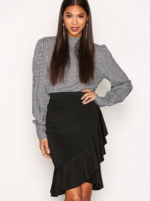 New Look Frill Trim Midi Skirt Black