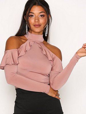 NLY One Frill Shoulder Top Rose