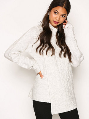 Vila Vidisa L/S Turtleneck Knit Top Ljus Grå