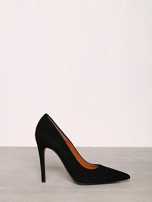 Topshop Setback Leather Shoes Black