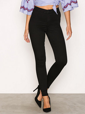 Topshop Hold Power Joni Jeans Black