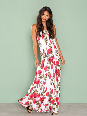 Missguided Floral Print Maxi Dress White