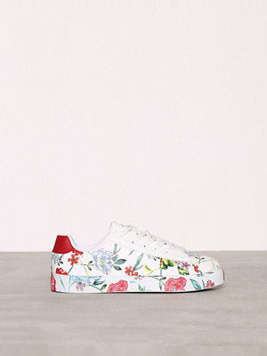 New Look PU Print Sole Lace Up Red