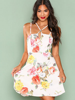 New Look Strappy Skater Dress White
