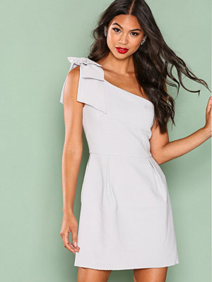 True Decadence One Shoulder Frill Dress Light Grey