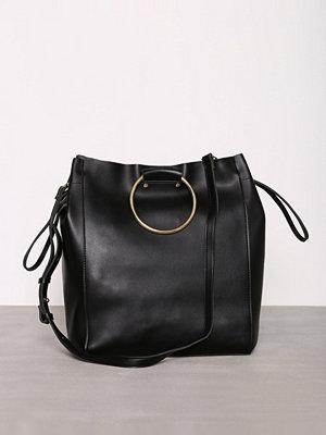 Topshop SEB Ring Handle Shopper Bag Black