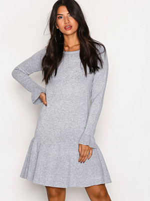 Vila Vivicka L/S Knit Dress/Gv Ljus Grå