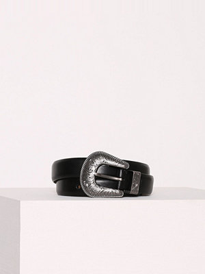 Bälten & skärp - Polo Ralph Lauren Casual Leather Waist Belt Svart