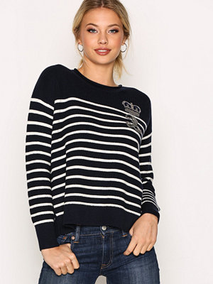 Polo Ralph Lauren Embellished Roll Neck Long Sleeve Sweater Navy/Cream