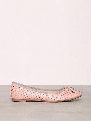 New Look PU Stud Ballerina Pink
