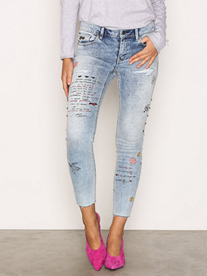 Odd Molly Groupie Cropped Jeans Mid Blue