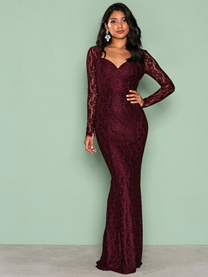 NLY Eve Mermaid LS Gown Plommon