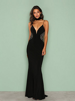 Forever Unique Myra Dress Black/Gold