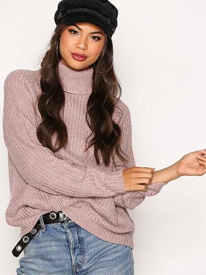 Jacqueline de Yong Jdyjusty L/S Pullover Knt Mörk Rosa