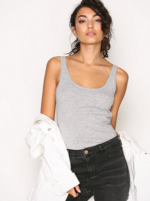 River Island Lace Up Side Tank Grey