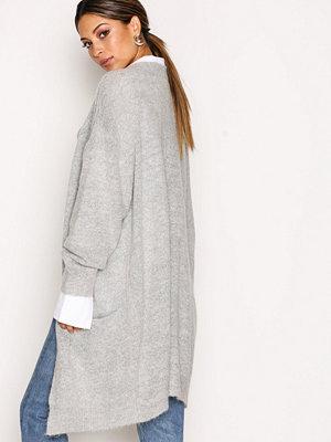 MOSS Copenhagen Vogue Mohair Long Cardigan Light Grey Melange