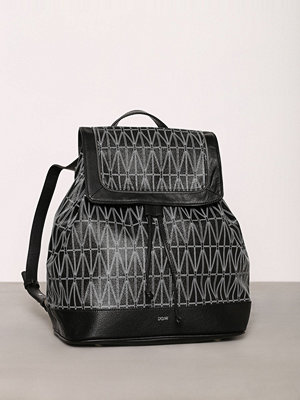 Dagmar svart mönstrad ryggsäck Backpack Svart