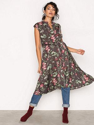 Object Collectors Item Objadrianne Print S/L Dress a Pa Svart