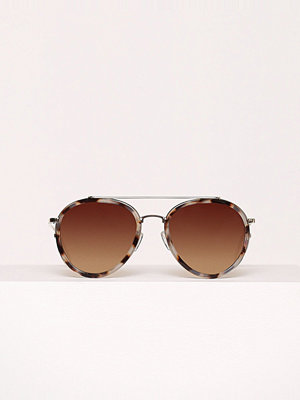 Solglasögon - River Island Aviator Sunglasses Gold