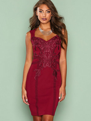 NLY One Sweet Lace Dress Burgundy