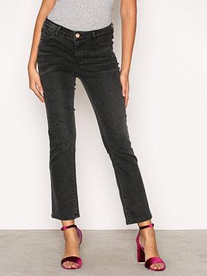 Vila Vibarcher Rw 5P Microflared Jeans Svart