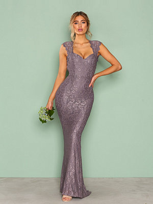 NLY Eve Mermaid Lace Gown Dark Lavendel