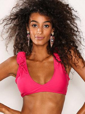 Missguided Frill Triangle Bikini Top Pink