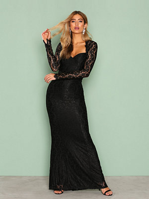 NLY Eve Mermaid LS Gown Svart