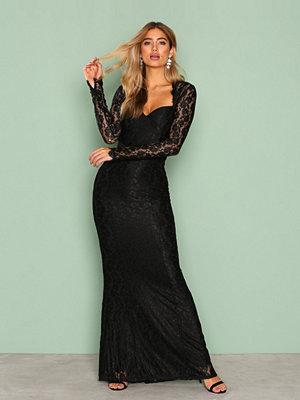 NLY Eve Mermaid LS Gown Svart