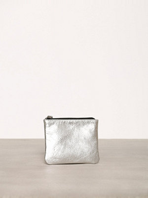 Topshop Zipped Leather Purse Silver