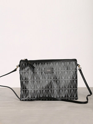 Dagmar svart mönstrad kuvertväska Strap Bag Svart