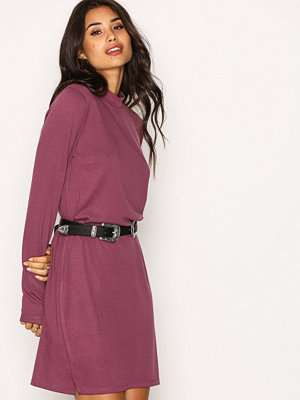 NLY Trend Loose Fit Polo Dress Lila