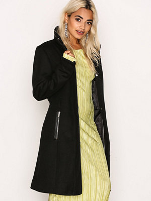 Vero Moda Vmprato Rich 3/4 Wool Jacket Noos Svart
