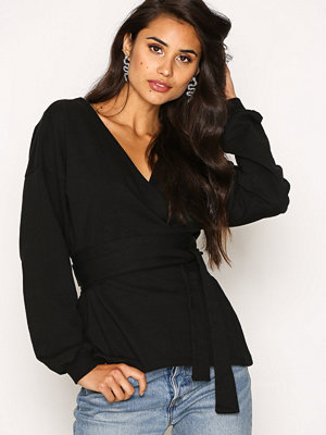 NLY Trend Front And Back Sweat Svart