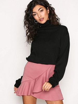 New Look Frill Mini Skirt Gunmetal