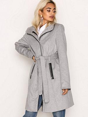 Vero Moda Vmprato Rich 3/4 Wool Jacket Noos Ljus Grå