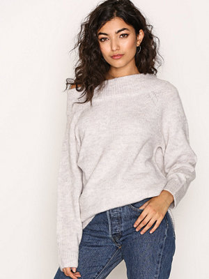 New Look Longline Bardot Jumper Pale Grey