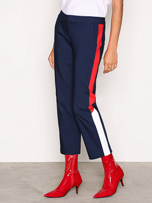 Tommy Jeans marinblå byxor THDW Tailored Crop Pant Blue